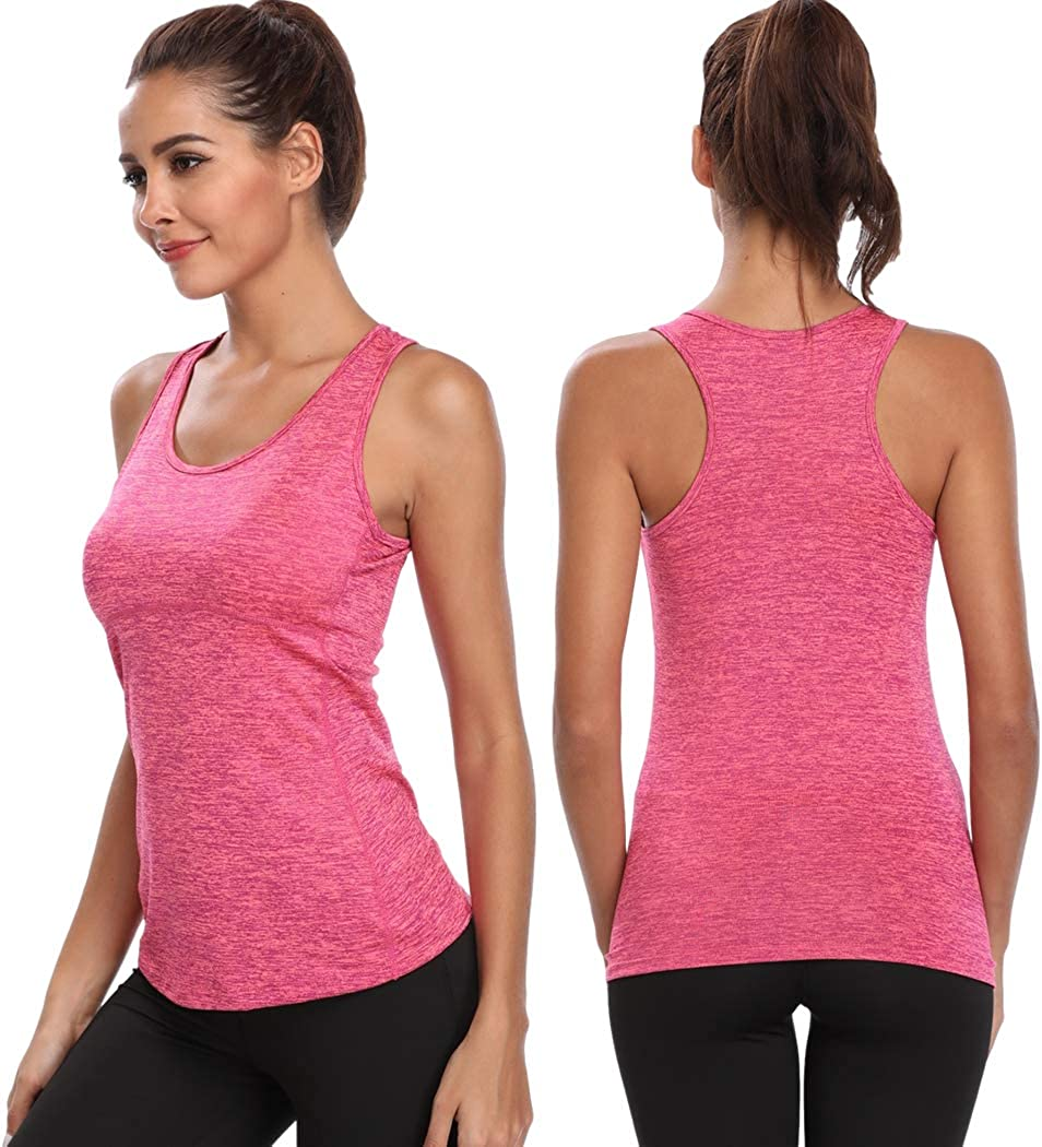Joyshaper Training Top Damen Quick Dry Kompression Sport Tanktop Sportshirt Trainingsshirt Shirt T Shirt f/ür Yoga und Fitness Running Top Weste Vest