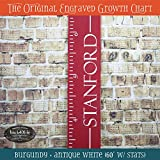 Engraved wooden ruler growth height chart (The Stanford) - premium engraved lettering
