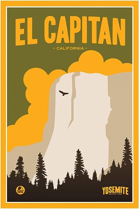 Yosemite National Park El Capitan travel print