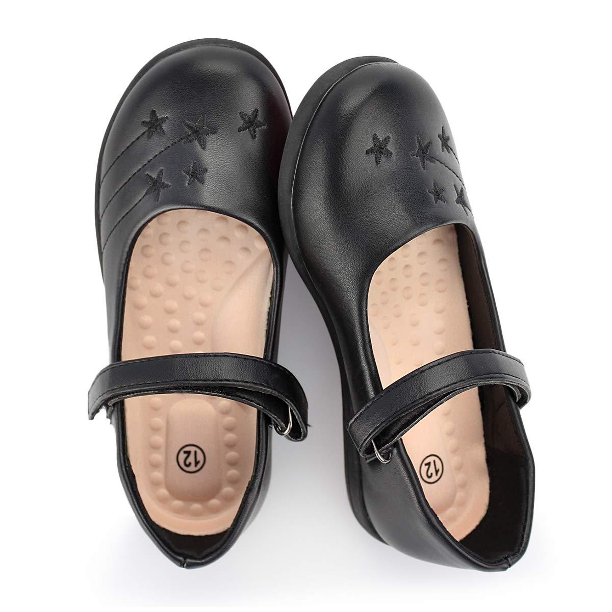 Hawkwell Girls Strap School Uniform Dress Shoe Mary Jane Flat Toddler//Little Kid