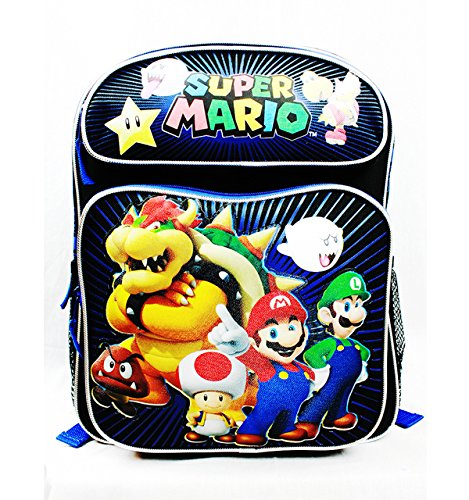 (Super Mario Brothers and Friends Medium (Toddler) Sized Canvas Backpack)