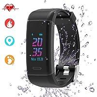 Sport fitness tracker, Activity Tracker Watch con cardiofrequenzimetro/GPS/24modalità Sport/SMS di notifica, impermeabile braccialetti fitness, contapassi contapassi per Android e iOS donne uomini