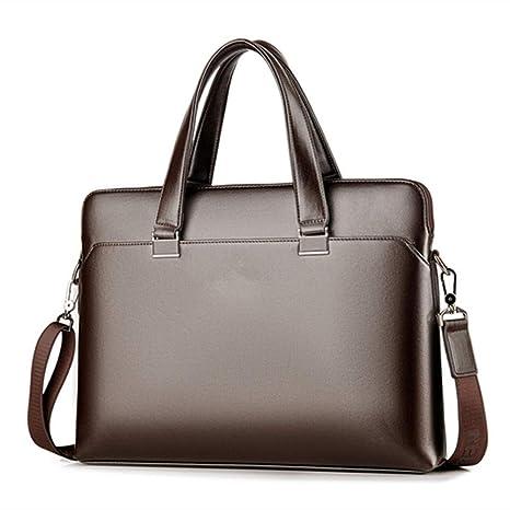 Men/'s Leather Business Work Briefcase Handbag Shoulder Messenger Laptop Tote Bag