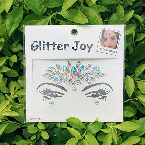 DaLin Face Gems Rave Festival Jewels Crystals Bindi Rainbow Tears Rhinestone Temporary Tattoo Face Rocks SFA006 (AB Color)