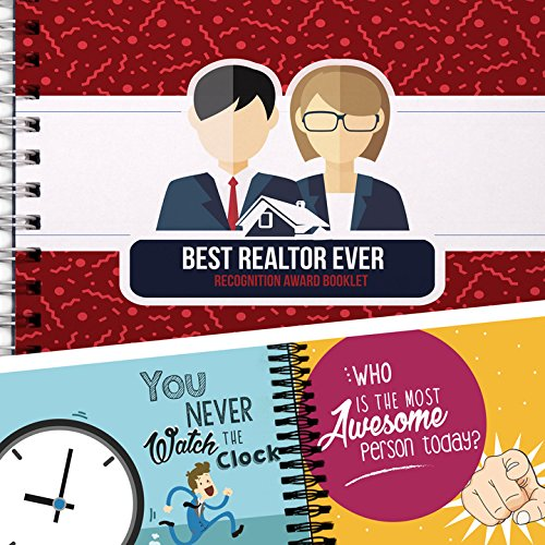 BEST REALTOR EVER - Recognition Award Personalizable Booklet with To: and From: Card! Nice Gift For Realtors! Realtor Gifts