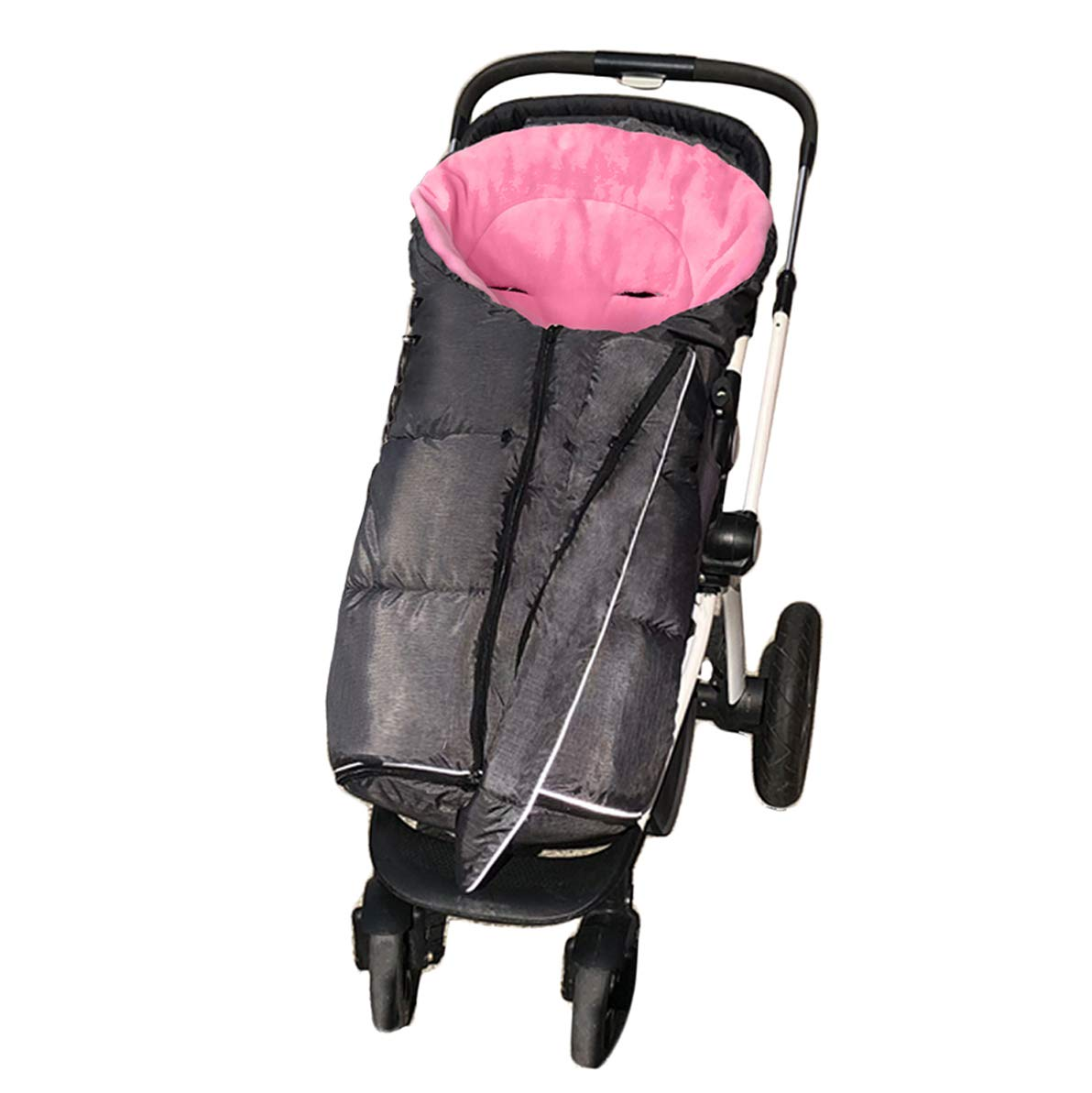 Width Adjustable Universal Stroller Footmuff Designed for Baby Grows,Waterproof Practical Features Outdoor Baby Bunting Bag,Rose