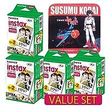 Fujifilm Instax Mini 8 Instant Film 10 x 2 Twin Pack x 4 packs (80 shoots) Value Set with Star Blazers 2199 premium towel