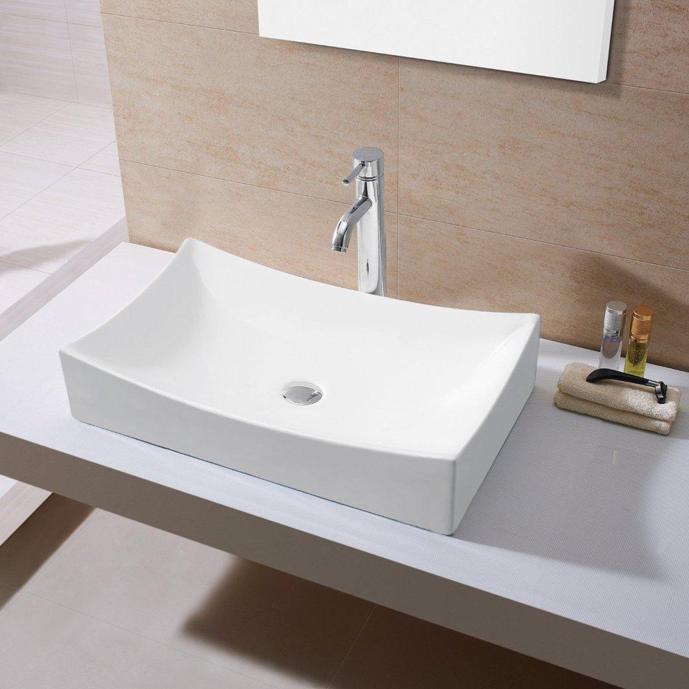 KES Bathroom Sink, Vessel Sink Porcelain 25\