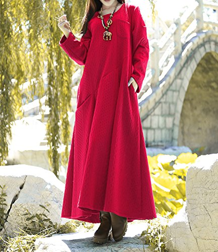Winter Fall of Cotton Pockets Plus Spring Anysize Clothing Dress Red Magic F6A King Size F0q5nnHw8