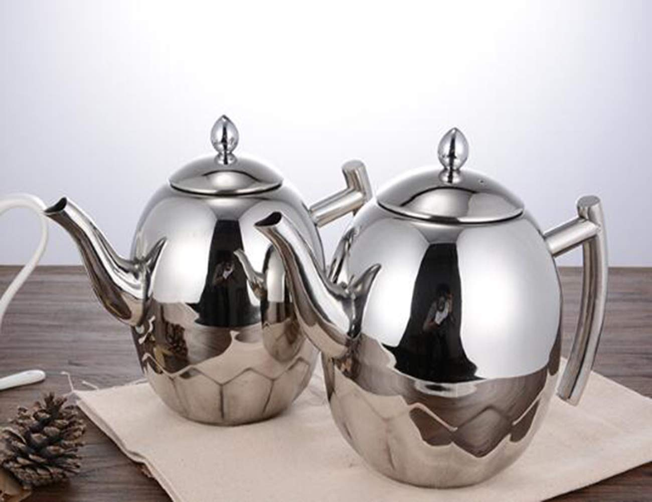 Amazon.com: Tetera de acero inoxidable, diseño de oliva ...