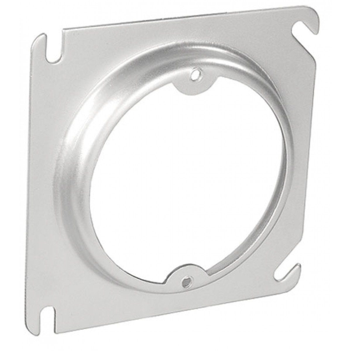 5 Pcs, 4'' Square to Round Device Ring, 1/2 In. Raised, .0625 Galvanized Steel Used to Mount Light Fixtures In Walls & Ceilings