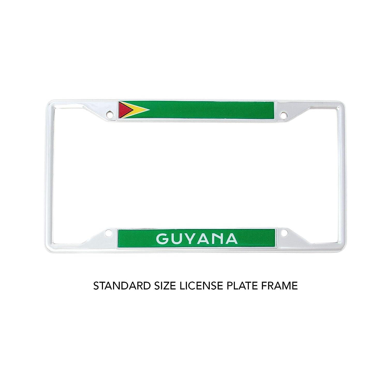Desert Cactus Country of Guyana Flag License Plate Frame for Front Back of Car Vehicle Truck Guyanese