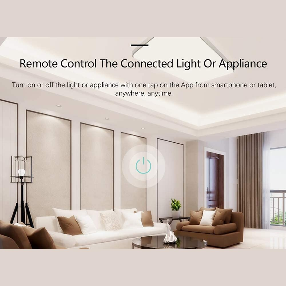 Festnight/ SONOFF TH16 WiFi Wireless Smart Switch Monitoring Temperature Humidity Wireless Home Automation Kit Compatible with Alexa Google Home Nest 15A 3500W