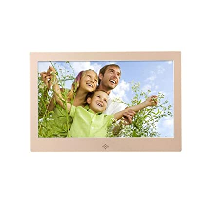 DOOLST Digital Photo Frame 10 inch Hi-Res Slim narrow border HD Metal Digital Picture