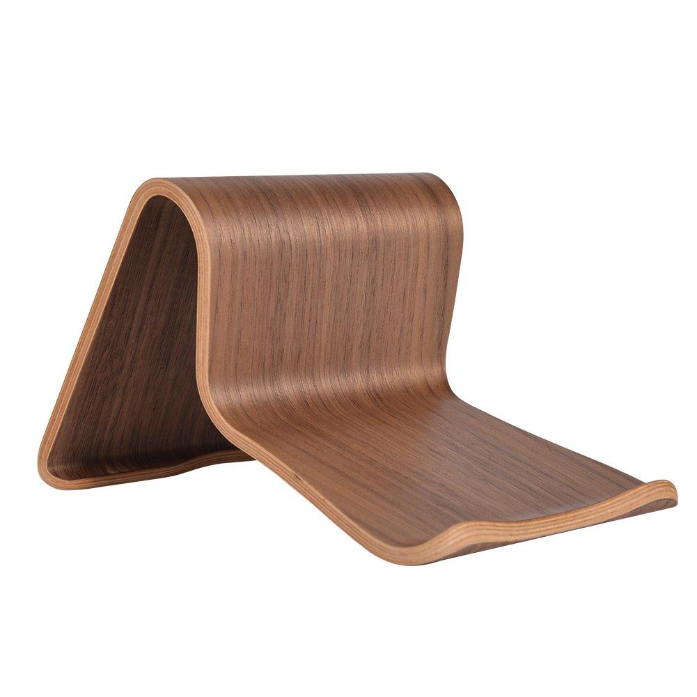SAMDI Wood Tablet Holder Notebook Computer Stand, Black Walnut (SD-011Wa) by SAMDI (Image #2)