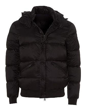 f08a5c0a Emporio Armani Mens Duck Down Filled Puffa Jacket 56 Black: Amazon ...