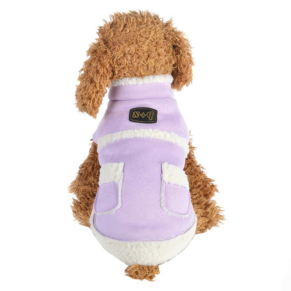 Cricteqleap Haustier Kleidung Warme Herbst Winter Hund Welpen