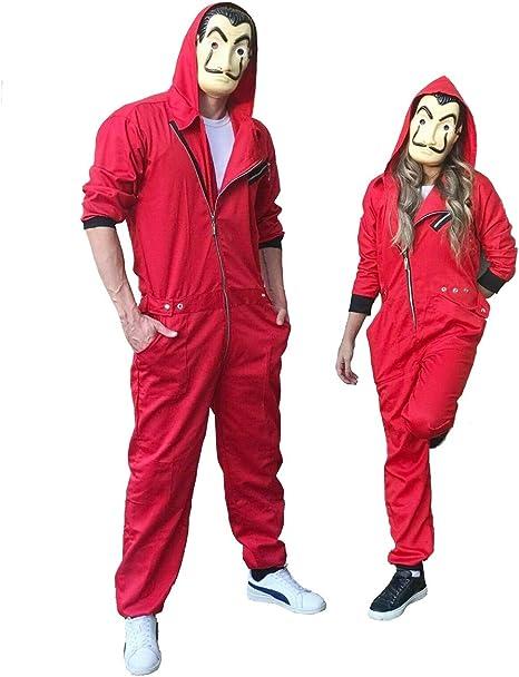 Disfraz La Casa De Papel Rojo Temporada 3 con Llavero Dali,tamaño ...