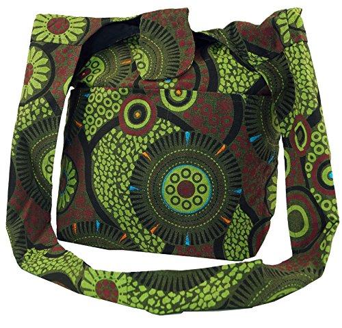 Mixte Vert Bandoulière À Hippie 33x37x12 Cm Noir Sac Sadhu Guru Coton Sacs Adulte Shopper shop Rw6X04