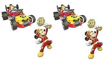 ALMACENESADAN 0881, Pack 4 Siluetas 30 cms Disney Mickey Mouse, para Decoracion de Fiestas y cumpleaños