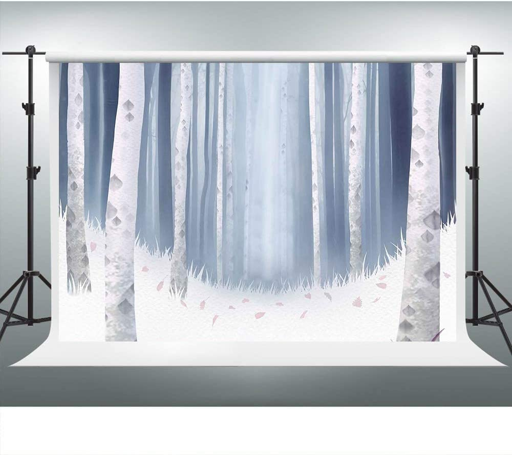 Merry Christmas Backdrop Rustic Wood Lights Snow Background 7x5ft Photo Booth Banner for Cake Table Supplies ZYVV0779