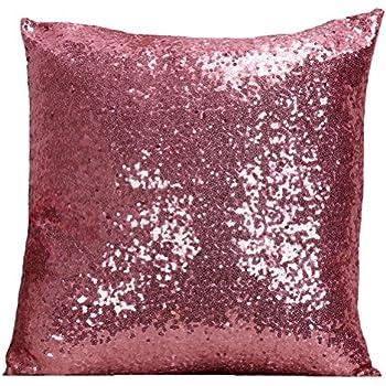 Amazon Com Multi Size Glitter Sequin Throw Pillow Cover