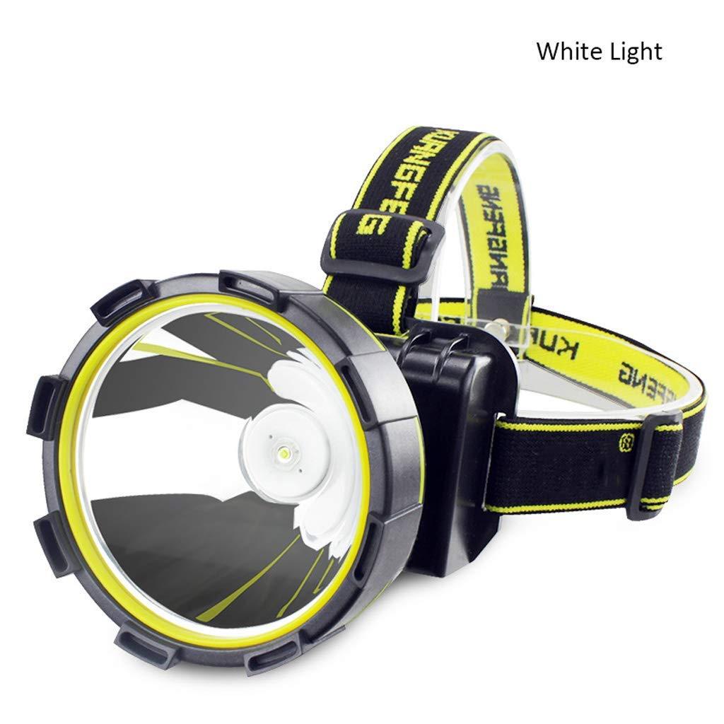 KLSHW Windy Strong Headlights-LED Super Bright Glare Long-Range Fast Charging Night Fishing Outdoor Lighting Miner's Lamp Wearing Flashlight, Waterproof and Rainproof (Color : White Light)