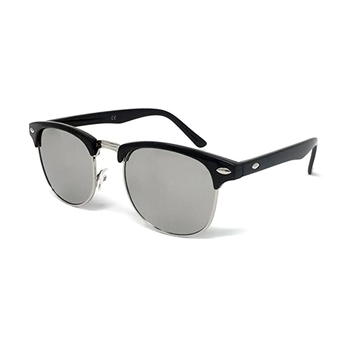 f12a79a22cfc 1950s Style Sunglasses - Vintage Retro Unisex Shades 100% UV400 Protective   Black Frame