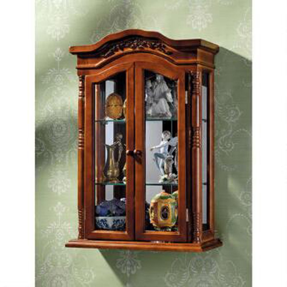 amazoncom display cabinet beacon hill wall mounted curio cabinet kitchen u0026 dining