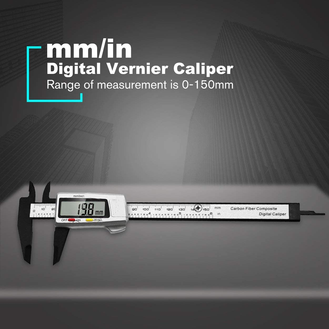 Tsubaya 150MM 6inch Electronic Sliding Digital Messschieber Lineal Mikrometer Messwerkzeuge Messger/ät Kunststoff Silber