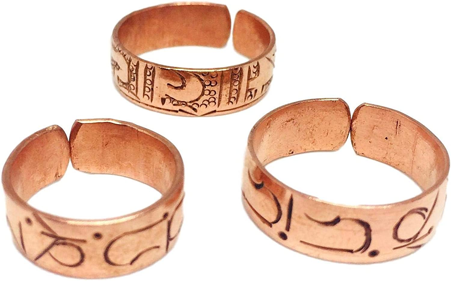 Pure 100/% Copper Ring Bioactive Vintage Style Bronze Waterfall