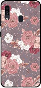 For Samsung Galaxy A30 Case Choclate Color Floral Pattern