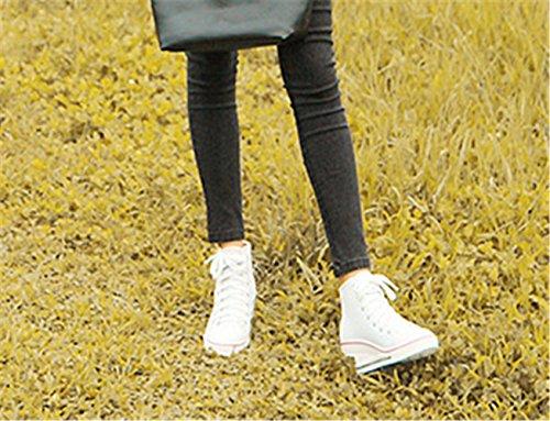 Top Mujer de mogeek Lona Blanco High de Deporte Mujer 35 43 Zapatillas Cuña Para Zapatos Pwq8rYP