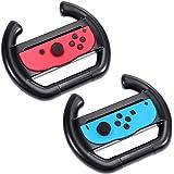 Zacro Nintendo Controller Lenkrad 2 Stück Lenkrad Wheel für nintendo switch Joy-Con Lenkrad Schwarz