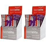 HumanN Beetelite Sport Nutrtion Packs Beet Root Powder Nitric Oxide Booster Athletic Endurance Beet Supplement Black Cherry Flavor 20 Packs