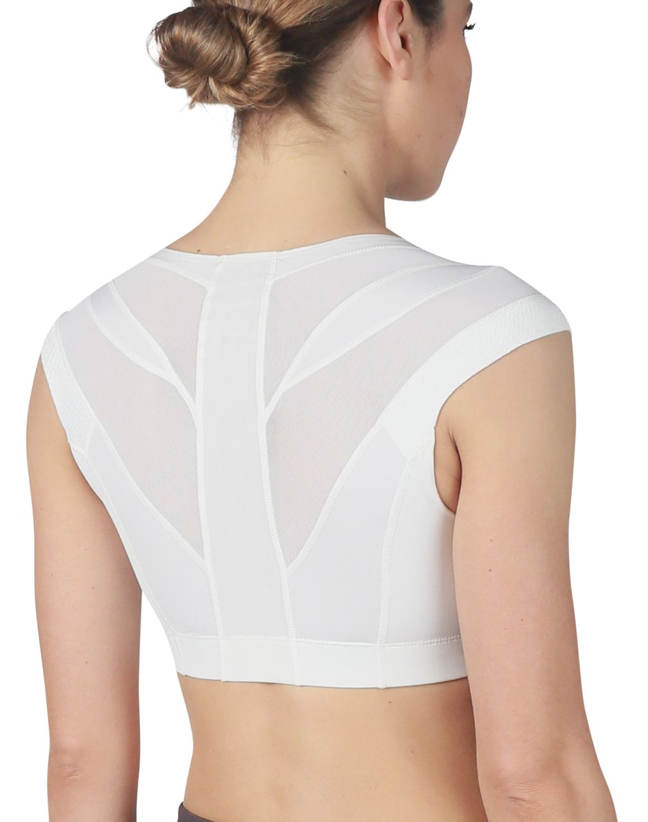 IntelliSkin Womens Essential Bra - Posture Correcting Sports Bra + UV 50 Protection + Ergonomic seams + CoolCue Fabric