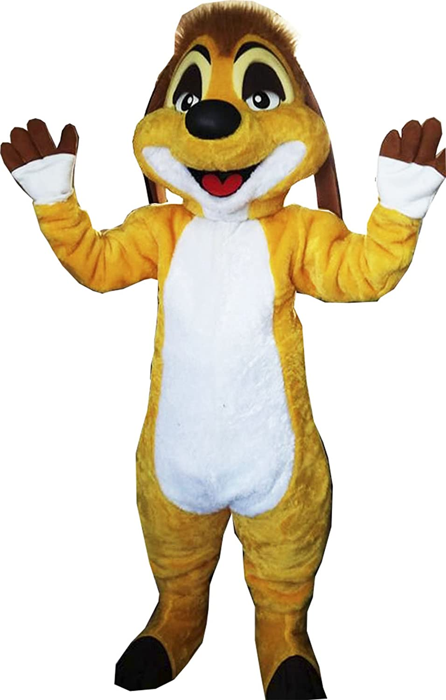 Amazon.com: Timon Rey León Mascot Costume Adult Costume ...