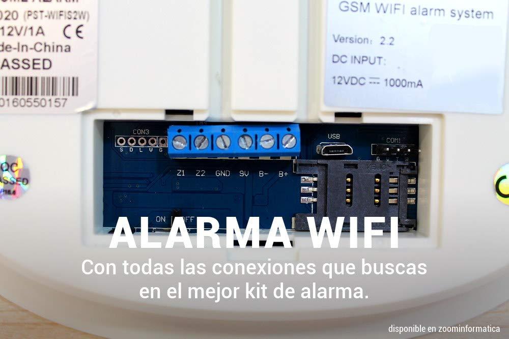 Alarma Hogar WiFi AZ020 Sistema seguridad Sin Cuotas Aviso ...