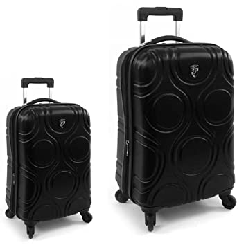 Equipaje, Maletas y Bolsas de Viaje - Premium Designer Maleta Rígida Set 2 Piezas - Heys Core Eco Orbis Nero Equipaje de Mano + Trolley con 4 Ruedas Grande: ...