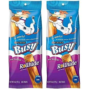 Amazon.com : Busy Rollhide Dog Treats 15 Rolls, 20 Oz