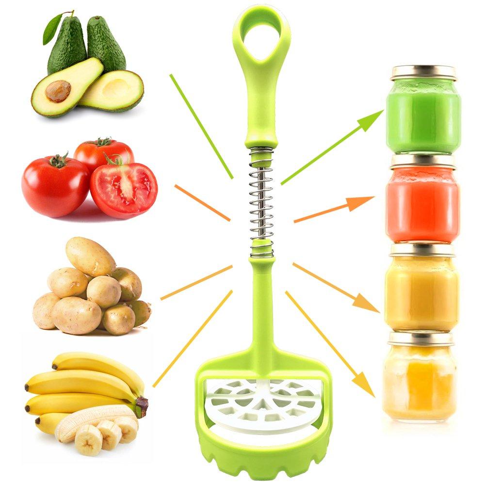 REFAGO Potato Masher Spring Push Type Kitchen Supplies Mashing