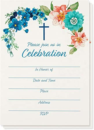 Amazon Com 50 Pack Religiosa Invitaciones Christian