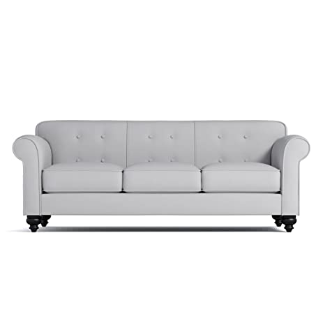 Merveilleux Pico Tufted Back Sofa, Stone