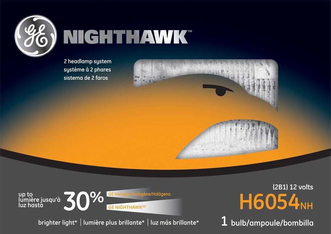 GE Lighting H6054NH Nighthawk Automotive Headlight Bulb