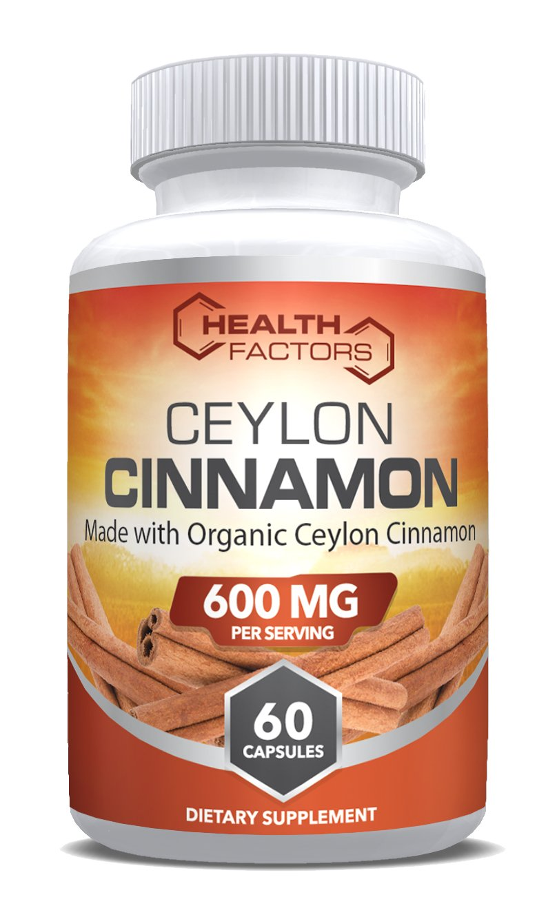 Organic Ceylon cinnamon capsules to support healthy blood sugar levels and heart health.