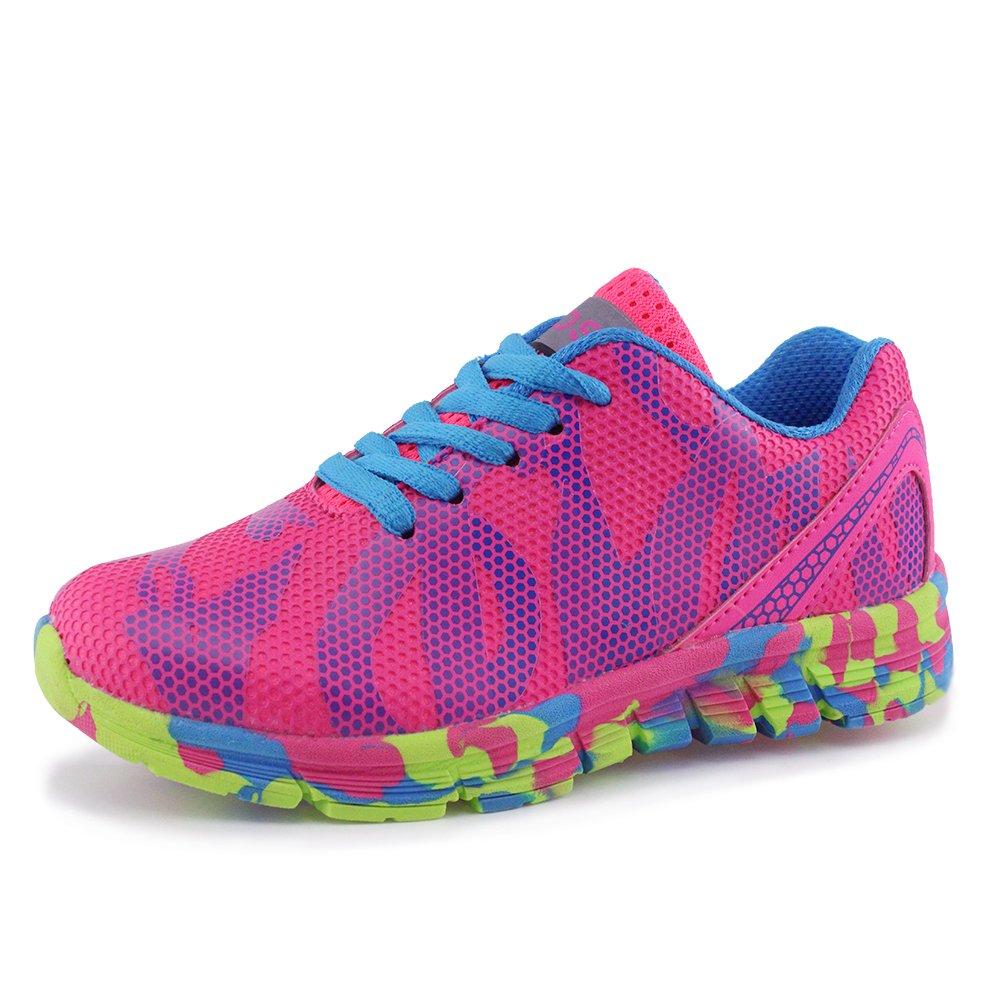 Hawkwell Unisex Waterproof Hiking Athletic Sneakers Running Shoes(Toddler/Little Kid/Big Kid),Fuchsia Mesh,12 M