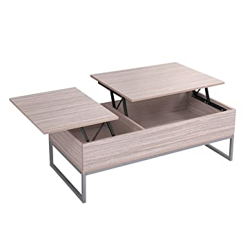 LAZYMOON Modern Lift Top Storage Wood Tea Table Desk Coffee Table Living  Room Furniture