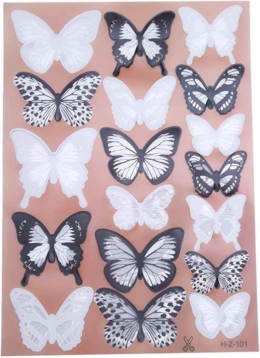 18pcs 3D Butterfly Sticker Art Wall Stickers Decals Room Decorations Home Decor.