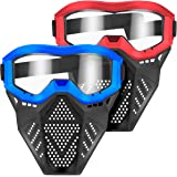 POKONBOY 2 Pack Face Mask, Tactical Mask with Goggles Compatible with Nerf Rival , Apollo, Zeus, Khaos, Atlas, & Artemis…