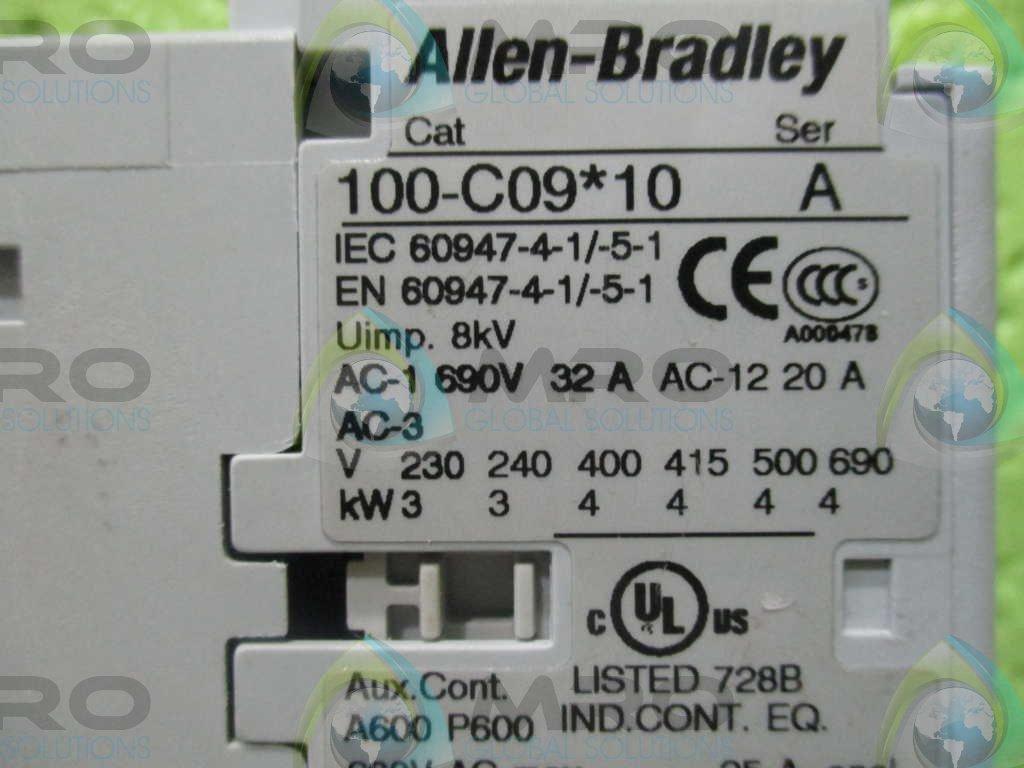 ALLEN BRADLEY 100-C09D10 SER.A CONTACTOR **GENUINE**